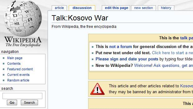 Wikipedia talk: Kosovo War article