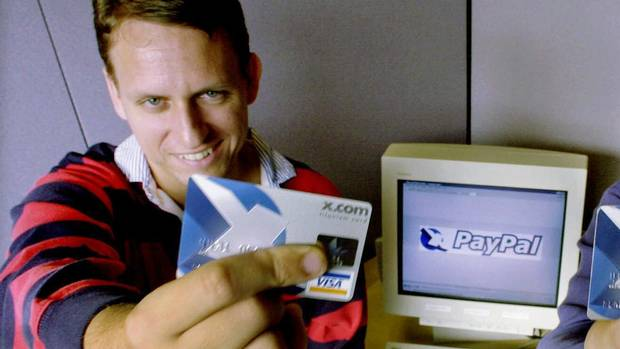 Peter Thiel and his credit card.
