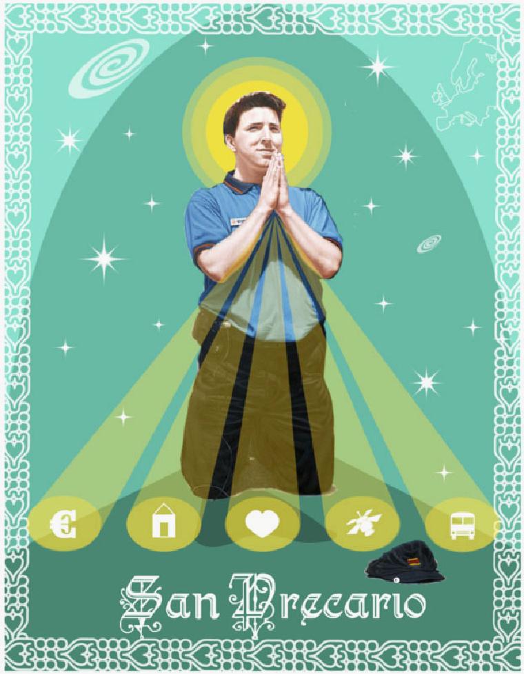 San Precario, an grassroots attempt to appropriate the narrative of the precariat.