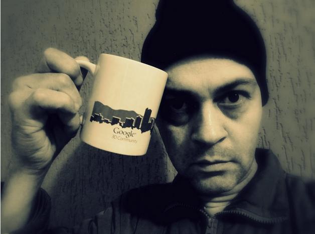 Modeler with Google Mug