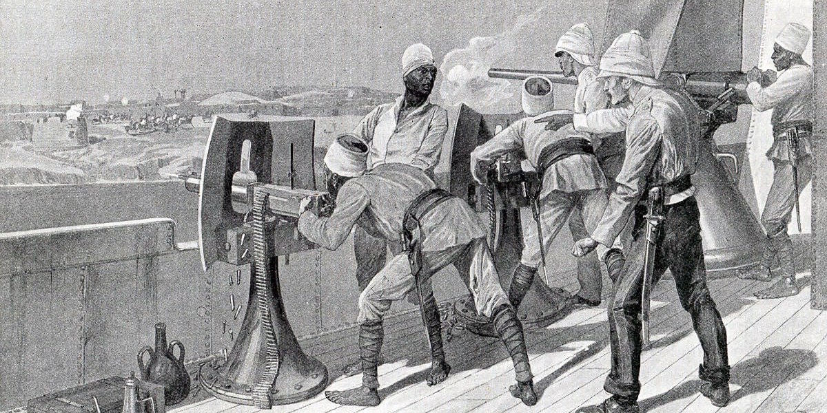 British-Egyptian-troops-firing-Maxims-along-the-west-bank-of-the-River-Nile-in-Sudan