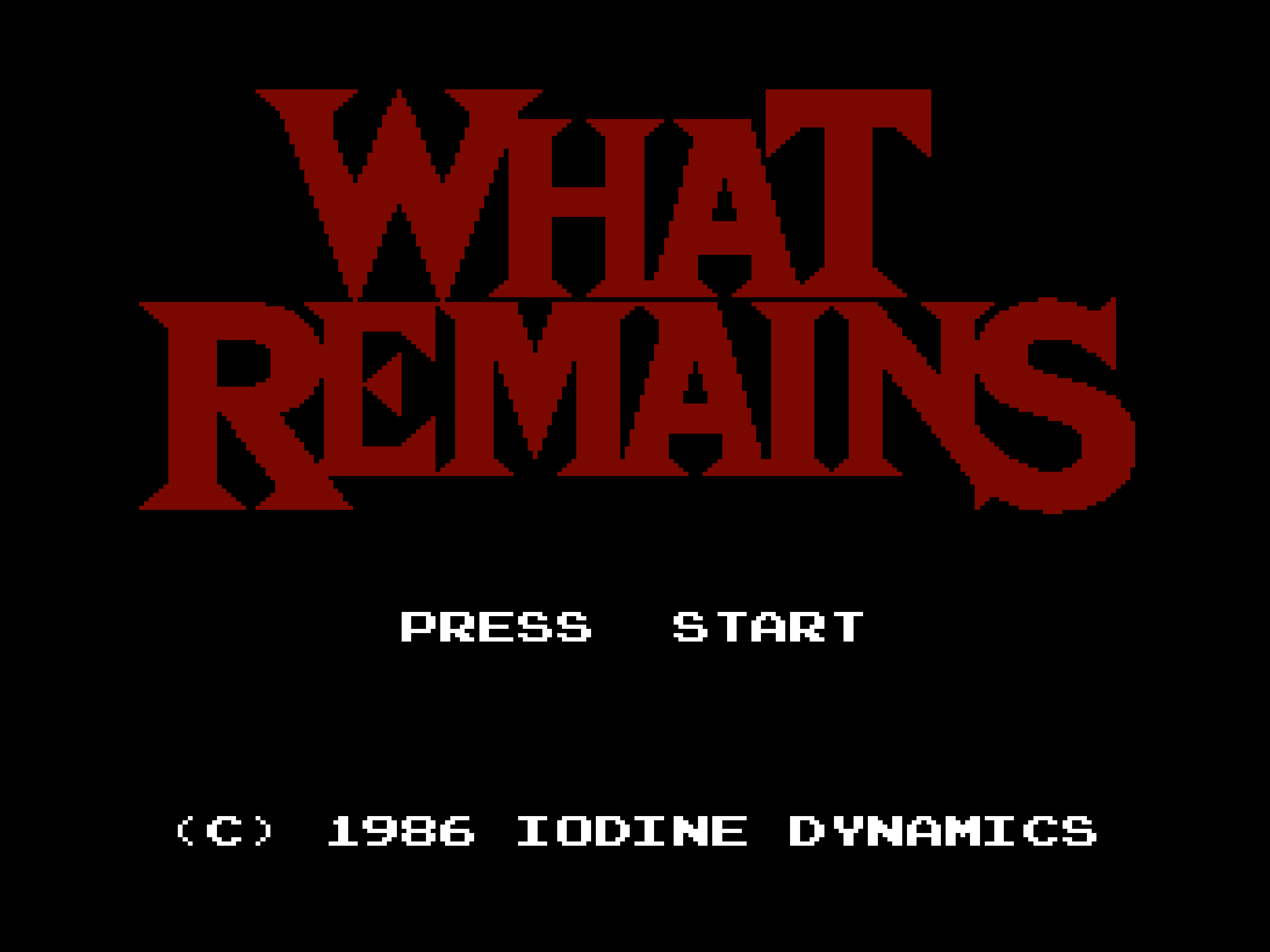 01_What_Remains_Title_screen
