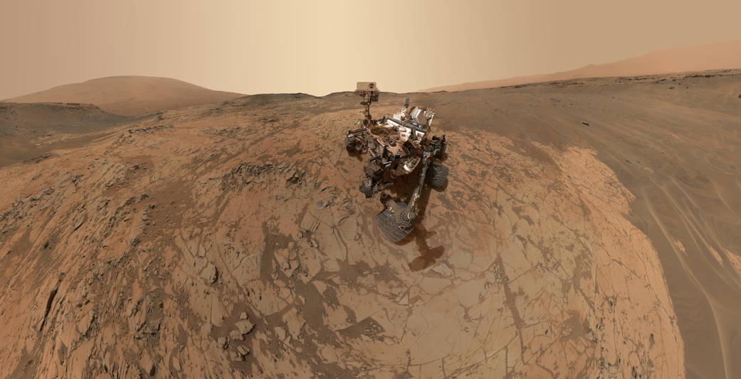 Curiosity Self-Portrait at 'Mojave' Site on Mount Sharp.