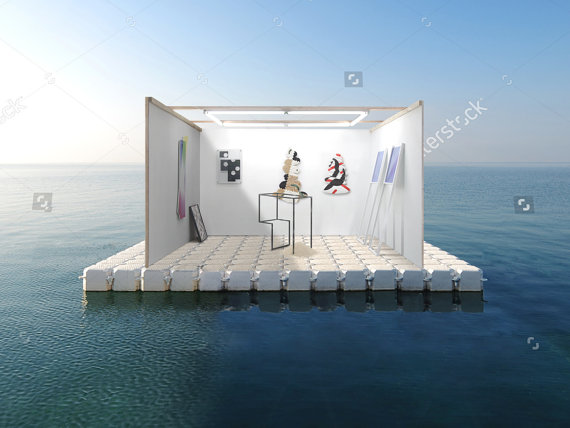 Small Business Opportunity (7. Seasteading Gallery Owner) FLOATING pavillion for sinking Biennial cities