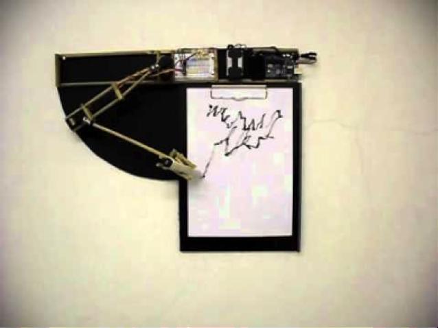 Lin Der Experimentelle Kalligrafie Roboter (2011)