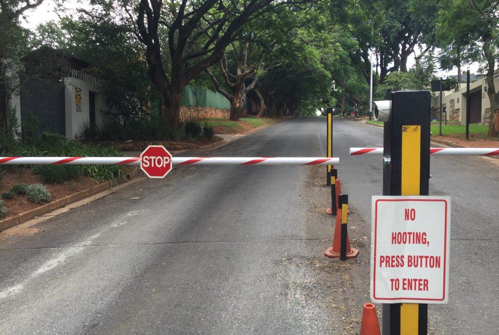 Closed suburb in Johannesburg